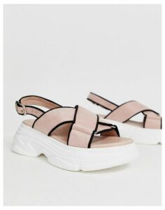 Truffle Collection sporty chunky flat sandals-Black