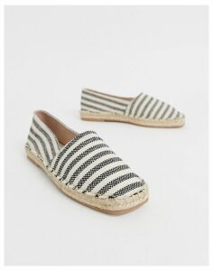 Qupid striped square toe espadrilles-Multi