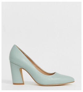 Co Wren wide fit pointed block heels-Blue