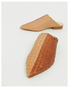 E8 by Miista tan leather woven mules