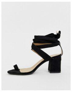 RAID Jazmine black toe loop sandals