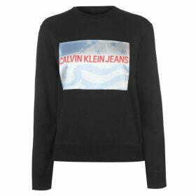 Calvin Klein Jeans Flag Print Sweatshirt