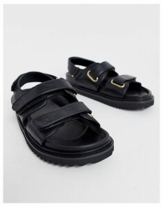 ASOS DESIGN Forbidden chunky sandals in black