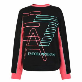 EA7 Stripe Crew Neck Sweatshirt