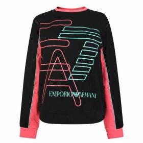 EA7 Stripe Crew Neck Sweatshirt