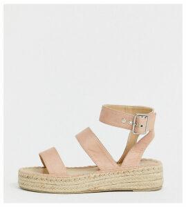 RAID Wide Fit Bellini blush espadrille sandals-Pink