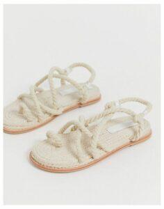 ASOS DESIGN Foxx premium chunky rope sandals-Cream