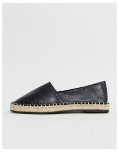 Qupid square toe espadrilles-Black