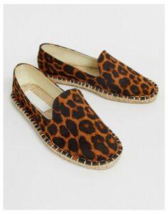 ASOS DESIGN Jual espadrilles in leopard-Multi