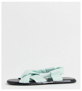 Co Wren wide fit knot pastel sandals-Green