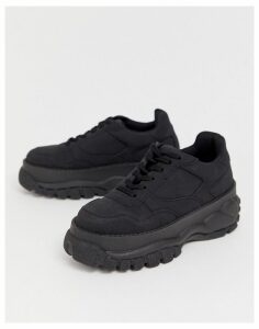 ASOS DESIGN Denmark chunky trainers in black