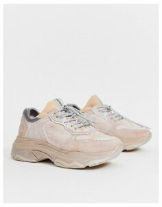 Bronx suede chunky trainers in sand-Black