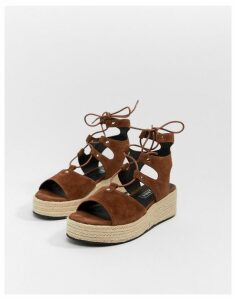 Sol Sana suede espadrille sandals-Tan