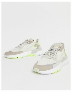 adidas Originals off white and yellow Nite Jogger trainers