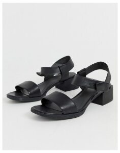 Camper two part low heel sandal in black