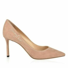 Jimmy Choo Romy 85 Stitch Suede Heeled Pumps