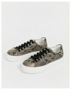 ASOS DESIGN Day Light chunky lace up trainers in snake-Multi
