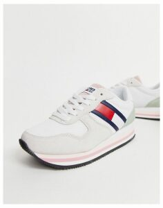 Tommy Jeans retro flag trainers-White