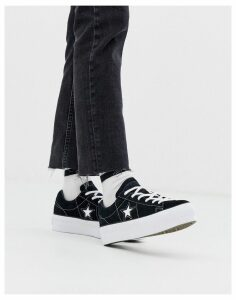 Converse one star black platform trainers