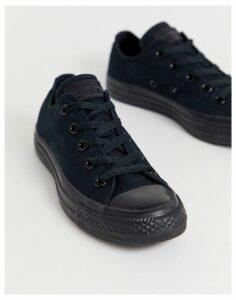 Converse Chuck Taylor All Star Ox black monochrome trainers