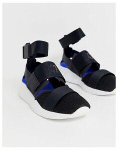 New Balance 247 black trainer sandals