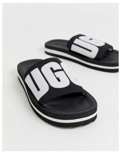UGG Zuma logo slides in black