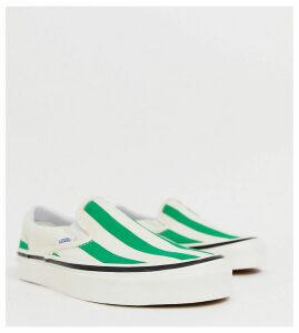 Vans Slip-On 98 DX Anaheim green stripe trainers