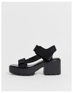 Vagabond dioon black chunky sporty sandals