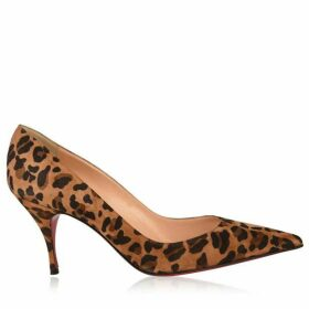 Christian Louboutin Clare 80 Leopard Print Heels