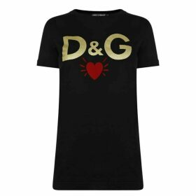 Dolce and Gabbana Heart Logo T Shirt