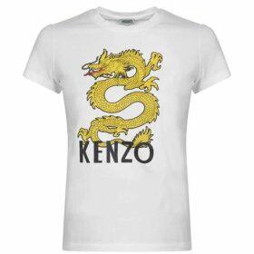 Kenzo Dragon Logo T Shirt