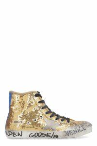 Golden Goose Francy Sequined High-top Sneakers