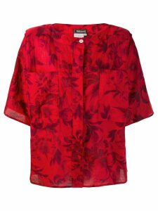 Fendi Pre-Owned 1980's structured shoulders floral blouse
