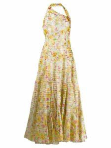 Christian Dior 2003 pre-owned flower print maxi dress - White