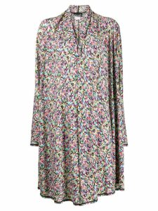 Missoni Pre-Owned 1980's printed overcoat - White