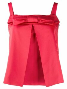 Christian Dior Pre-Owned 1990's bow detail top - Red