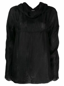 Giorgio Armani Pre-Owned 1990's cowl neck longsleeved blouse - Black