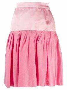Emanuel Ungaro Pre-Owned 1980's pleated skirt - PINK