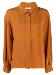 Yves Saint Laurent Pre-Owned 1980's gathered sleeves shirt - Orange