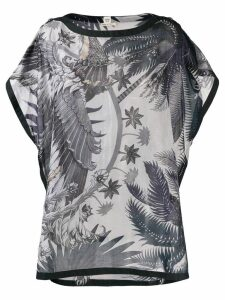 Hermès Pre-Owned 2000's palm trees kaftan top - Blue