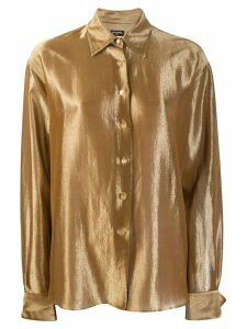 Chanel Pre-Owned 1990's metallic shirt - Gold