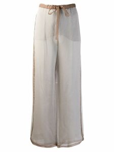 Missoni Pre-Owned 2000's silk crepe wide-legged trousers - Grey