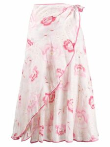 Kenzo Pre-Owned 2000's floral print skirt - White