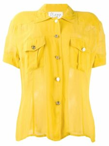 Moschino Pre-Owned 1990's shortsleeved sheer shirt - Yellow