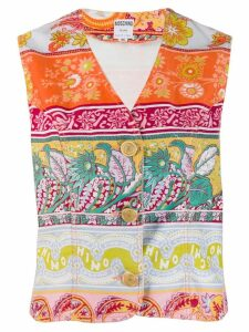 Moschino Pre-Owned 1990's floral print vest - Orange