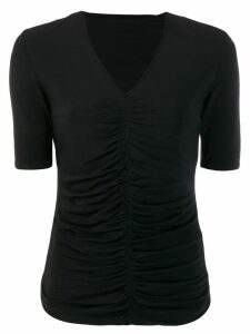 Burberry Pre-Owned 2000's gathered shortsleeved blouse - Black
