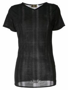 Fendi Pre-Owned logos long sleeve top - Black