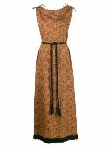 A.N.G.E.L.O. Vintage Cult 1960's printed maxi dress - Brown
