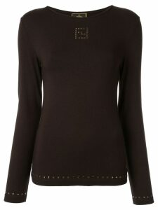 Fendi Pre-Owned long sleeve top - Brown