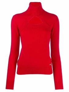 Chanel Pre-Owned 2006's cashmere cut out sweater - Red
